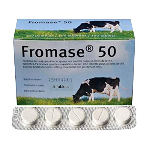 RENNET TABLETS/Fromase 50/5 TABLETS / 5 PASTILLAS / 5 5 TABLETTES Made in France