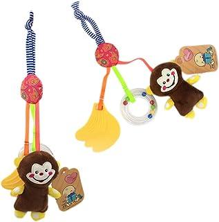 Kidoll Baby Stroller Hanging Toys Teether Hanging Plush Toys Baby Lathe Hanging Ring Rattle Toy Animal Rattle Toy