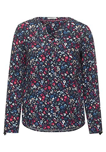 Cecil Damen Bluse mit Blumen-Print deep Blue XL