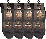 RS. Harmony | Kurzsocken | Bambus Super Weich Atmungsaktiv | 12 Paar | anthrazit, marine, schwarz | 39-42