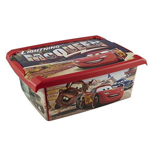 keeeper Caja de Almacenaje con Tapa Cars, 39 x 29 x 14 cm, 10 l, Filip, Rojo