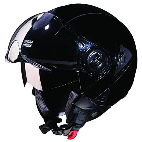 Studds Downtown SUS_DONOFH_BLKL Open Face Helmet