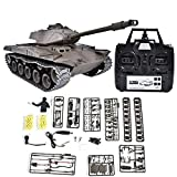 Dilwe RC Tank 2.4GHz, 1:16 Heavy Remote Control Battle Walker Tank Model RC Toy for Kids Children