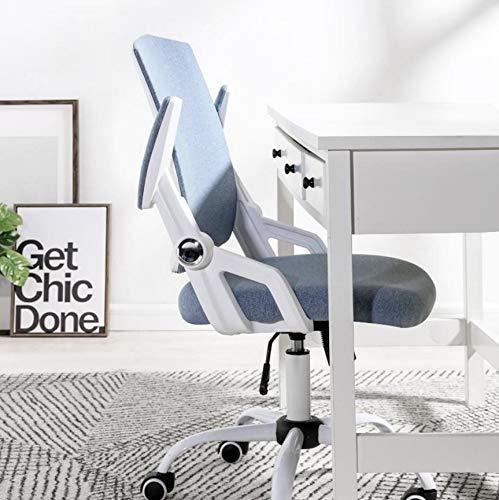 Raelf, sedia da ufficio girevole a Z con cintura in vita 3D, design confortevole per casa, ufficio, braccio pieghevole regolabile, sedia per computer per casa, studenti, ufficio amministrativo