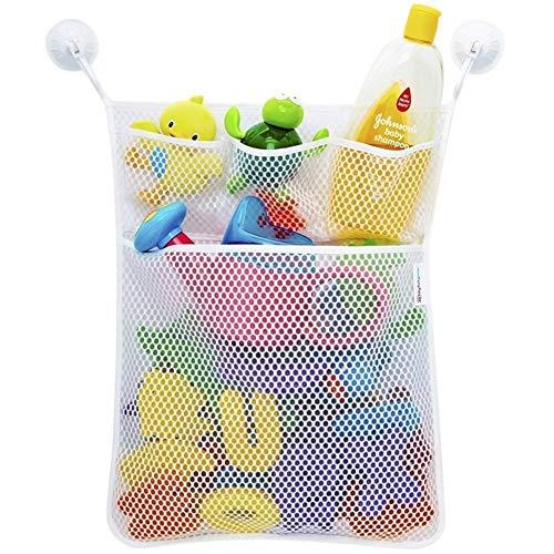 SUNTRADE Bath Toy Organizer - Baby Toy Storage Mesh Bag + 2...