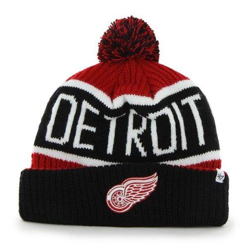 brand new dbb38 ff189  47 Brand Calgary Cuff Beanie Hat with POM POM - NHL Hockey Cuffed Winter  Knit.