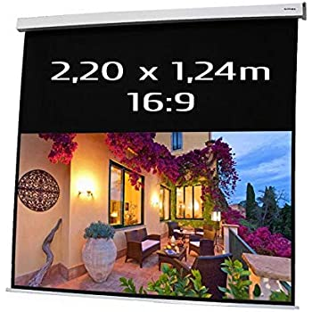 Pantalla ELECTRICA DE PROYECCION 2,20x1,24m Formato 16:9: Amazon ...