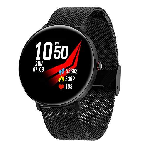 Sutinna 2.5d Bogensieb Smart Watch, IP68 imprägniern Schlaf Motion Tracker for Männer und Frauen Senior Fitness-Armband-Armband Bluetooth Nachricht Erinnerung, Geeignet for Android und Ios
