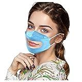 Zldhxyf 30PC Erwachsene Mundschutz Transparente Durchsichtig Visier Gesichtsschutz Face Cover Visualisierungs-Masken Multifunktionstuch Speziell für Gehörlose Bandana