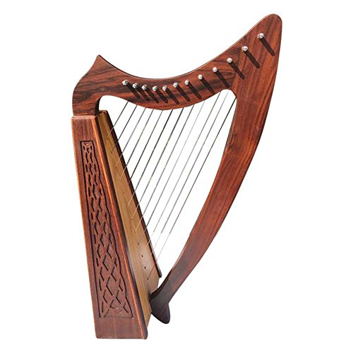 Arpa irlandese a 12 corde, in legno di sheesham,...