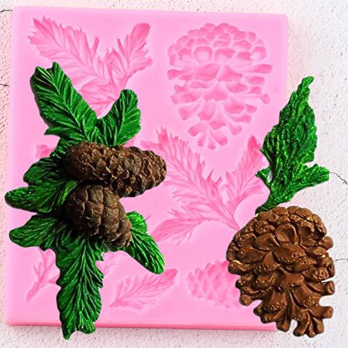 LKJHG Strumenti per la Decorazione di Torte Natalizie Stampi in Silicone a Cono di Pino Filiali in PinoStampi perBordi TortaStampi per Cioccolato Caramelle Gumpaste