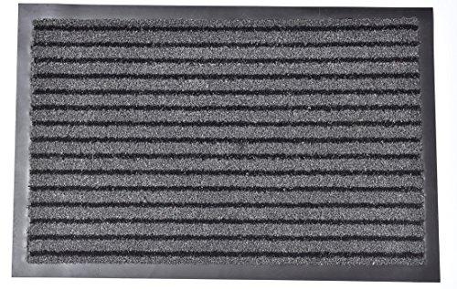 EVIDECO 14714940 extérieur Paillasson Tapis, 40,6 x 61 cm X 1/10,2 cm, Gris, Noir