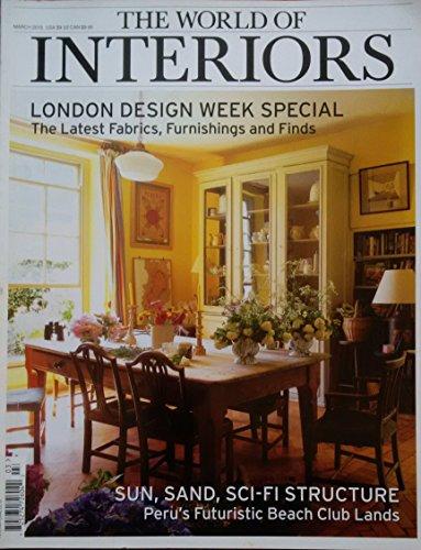 The World of Interiors magazine March 2015 - London design week special - Peru's futuristic Beach club