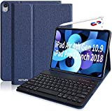 ipad pro 11キーボードカバー ペンシル充電対応 2018 iPadPro11 インチ キーボード ケース アイパッドプロ11 inch カバーiPad pro 11インチ2018版 専用キーボードケース PUレザーケース 手帳型 スタンド機能付きカバー (ブラック)