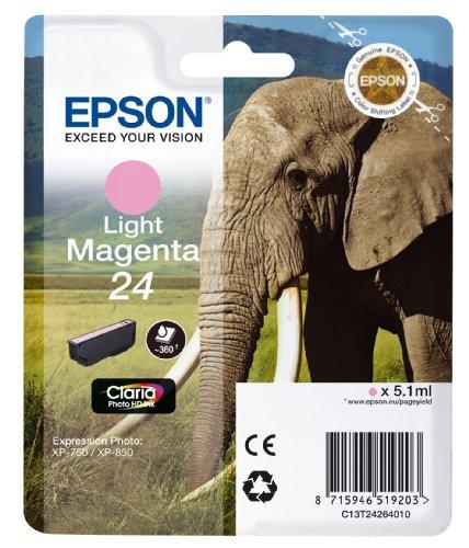 Epson Original 24 Tinte Elefant (XP-750 XP-850 XP-950 XP-55 XP-760 XP-860 XP-960 XP-970, Amazon Dash Replenishment-fähig) hell magenta