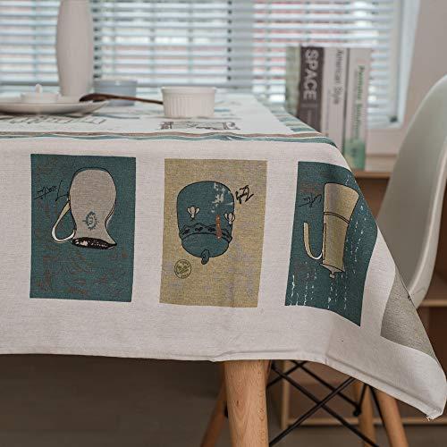 DW&HX Bohême Nappe, Motifs Ethniques Lin en Coton Macramé Dentelle Nappe de Table Couverture de Dessus de Table Vintage pour Manger Pique-Nique Parties-E 70x70cm(28x28inch)