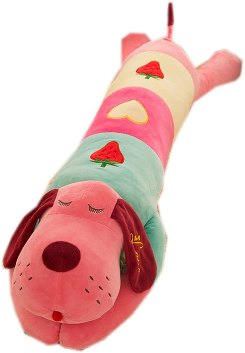 [Trendy Comfy] Fruit Lie Prone Dog Plush Toy Doll Office Nap Pillow Hold Pillow (Red) 42.9