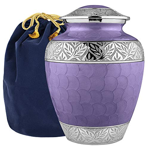 Silver Linings Lavender Adult Large Urn for Human Ashes