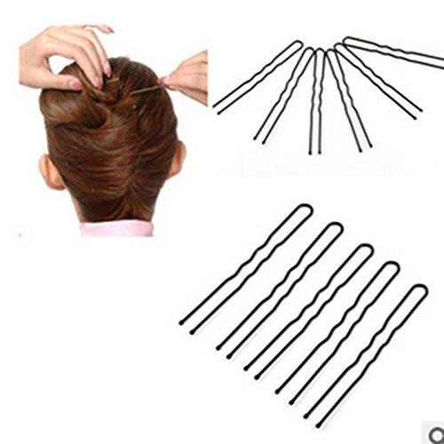 Épingle à cheveux Nouveau 100 Pcs Vague Noire Et Style Plat Épingles À Cheveux Invisibles Flat Top Pins Grips Salon De Coiffure Épingle À Cheveux Cheveux Styling Tool