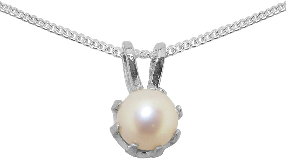 Solid 925 Sterling Silver Cultured Pearl Womens Pendant Direct stock New products, world's highest quality popular! discount Chain