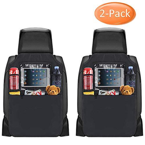 2 Stück Auto-Rückenlehnenschutz, Nasharia Rücksitz-Organizer, Kick-Matten-Schutz für den Autositz mit durchsichtigem, Tablet-Fach, welcher vollen Schutz durch sein wasserdichtes Material bietet