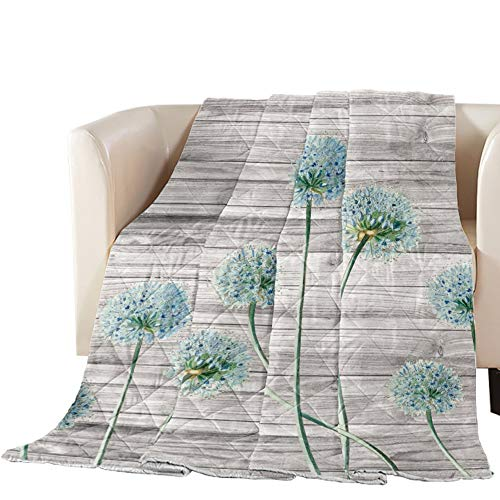 Big buy store Thin Comforter Bedspread Throw Blanket Blue Dandelion Lightweight Reversible Bedding Quilt Vintage Floral Quilted Coverlet for Couch Sofa Living Room 90x102 inch (King)
