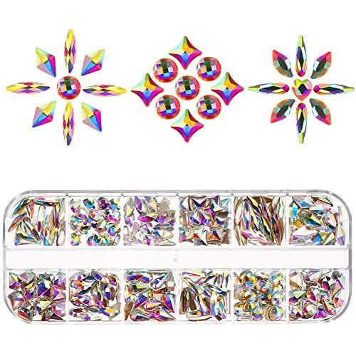 Tagaremuser Lot de 240 cristaux à dos plat pour nail art, vêtements, chaussures, sacs