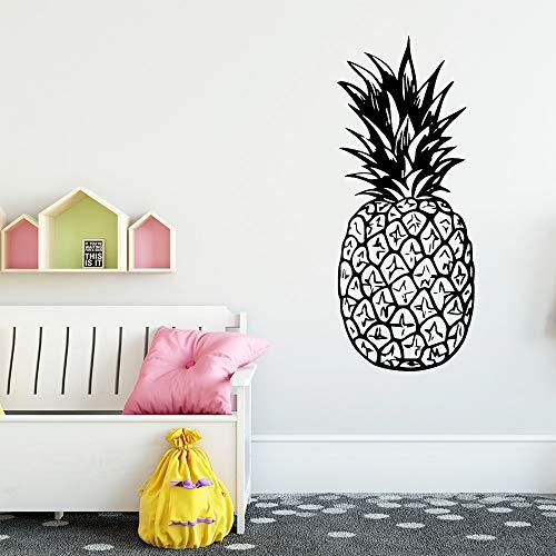 Jbclly Fruta piña Vinilo Pegatina decoración Sala de Estar Dormitorio Etiqueta de la Pared removible decoración del hogar30 cm X 72 cm
