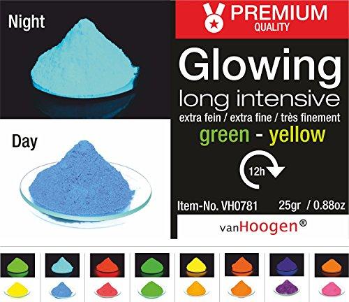 van Hoogen Leucht-Pulver Fluoreszierend :: Glüh-Pulver mit Streuer 100gr. BLAU (Tag und Nacht)