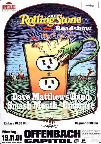 Dave Matthews Band - Everyday, Offenbach & Frankfurt 2001 » Konzertplakat/Premium Poster | Live Konzert Veranstaltung | DIN A1 «