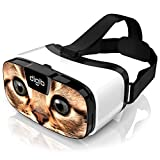 VR Headset for iPhone and Android Phones - Virtual Reality Goggles | Comfortable & Adjustable VR Glasses | Play Your Best Mobile 3D Games 360 Movies - Great Gift for Kids and Adults | Cat