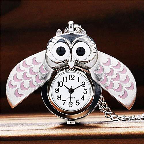 Huaib Taschenuhr Halskette Uhr, Eule Keychain hängende Uhr, Taschenuhr Owl Tabellenkalkulations-Uhr