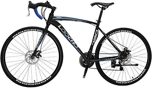 LOOCHO Road Bike 21 Speed Dual Disk Brake 703C Wheels Fitness Bicycle Urban City Commuter Bike