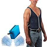 9. NHI Cooling Vest - 8 x Body Ice Packs for Double Cooling Time - #1 Ice Cooling Vest for MS - Sport - Motorcycle - Cooking - Mascot - Cosplay Adjustable Cooling Shirt