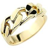 [アトラス] Atrus メンズ イエローゴールド 18金 指輪 リング 喜平 きへい キヘイ チェーン 鎖 デザイン 18号