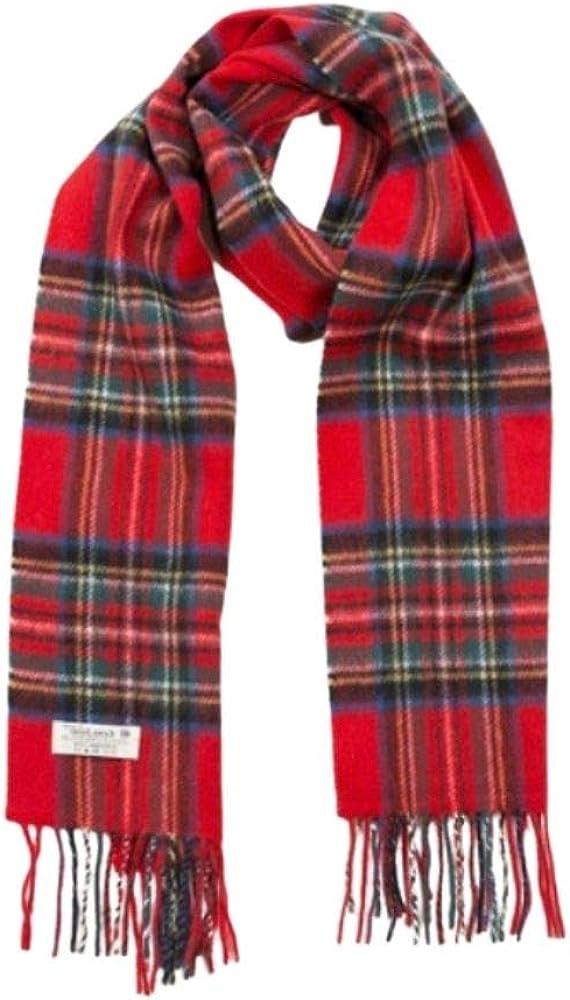 Biddy Murphy Plaid Wool Scarf 100% Lambswool Scarf 12