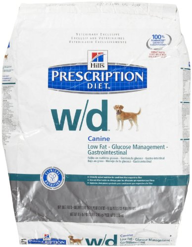 Hill's Prescription Diet w/d Low Fat - Diabetic - Gastrointestinal Dry Dog Food w/ Chicken 8.5 Puounds
