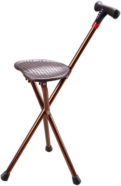Smart Folding Walking Stick Stool Multi-Purpose Portable Crutch Stool Tripod Cane Older Non-Slip Chair Seat Elderly Disability Medical Aid Folding Seat Cane