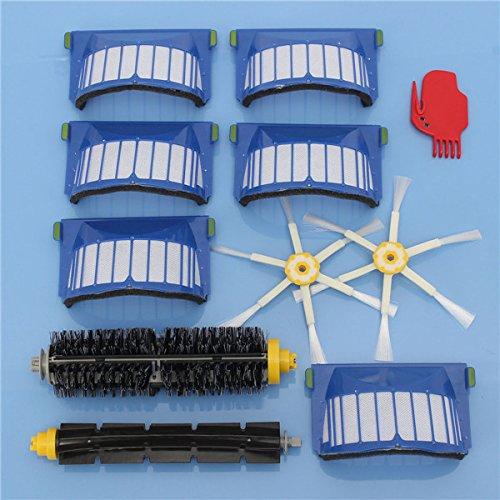 ILS – Juego de accesorios de aspiradora de 11 piezas filtro y cepillos para iRobot Roomba 600 Series