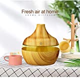 ERKEJI Aroma diffuser wood grain ultrasonic humidifier essential oil diffuser air purifier 300ML