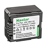 Kastar VBG130 Battery for Panasonic VW-VBG070, VW-VBG130, VWVBG260 Battery and Panasonic SDR-H40, SDR-H80 Series, HDC-HS700, TM700, HS300, TM300, HS250, SD20, HS20, HDC-SDT750 Camcorders