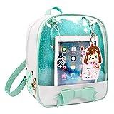 Shidan CFL Ita Bag de Niñas Mochila de Cuero de Caramelo Bolso de Escuela Ventana de Bowknot Kawaii
