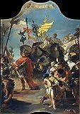 Battista Servierwagen weiss von Giovanni Tierra Mar Golf: die Triumph von Marius. Römischer Historische Kunstdruck/Poster. Große Größe A1 (84,1 cm x 59,4 cm)