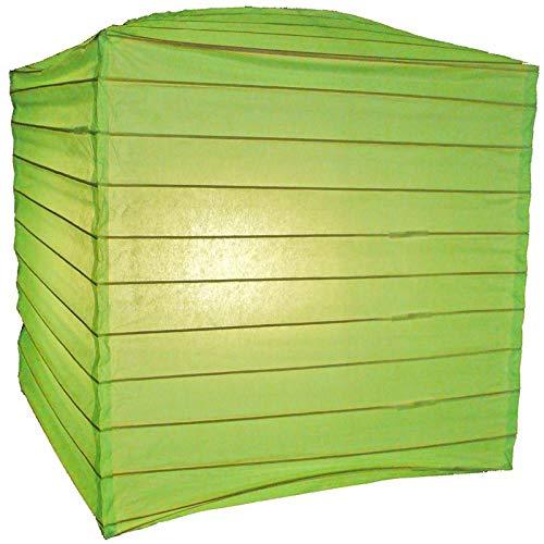 "Quasimoon PaperLanternStore.com 10"" Light Lime Square Shaped Paper Lantern"