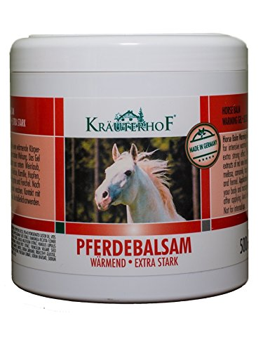 Kräuterhof 10449 Pferdebalsam Massage Gel Wärmend Extra Stark 500ml (J2/8)