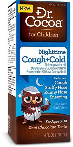 Dr. Cocoa Cough and Cold Nighttime Medication, 4 Fluid Ounce(pack of 3)