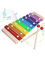 Kleurrijke Xylofoon, INFANT MOMENT Handklop Houten Muziek Instrument Opwindend Muziektalent, Kinder Muziek Melodie 8 Toetsen Muziek Instrument met 8Timbres, Xylofoon voor Kinderen 3 4 5 6 Leeftijden Hierboven