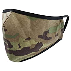 3-Ply Face Cover: The military patterns and blue masks are DWR treated (Durable Water Repellent) cotton blend material, and the navy blue masks are made of comfortable, breathable fabric. This is not intended for medical use, and not proven to reduce...