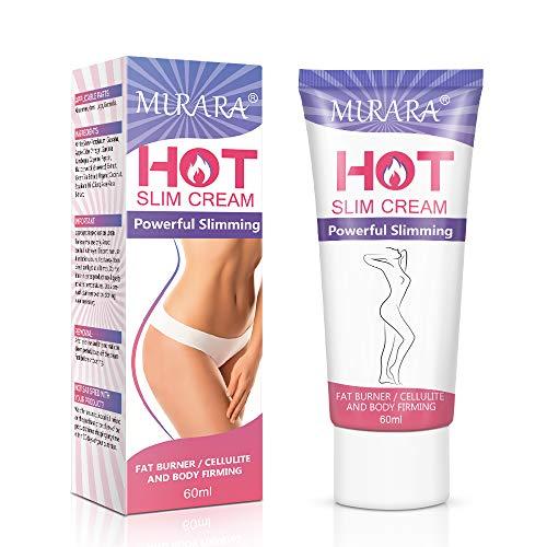 MURARA Hot Cream, Professional Cellulite Slimming and Fat Burning Cream, Natural Cellulite Treatment Cream for Thighs, Legs, Abdomen, Arms and Buttocks, Men & Women(Cosmetics)-60ML