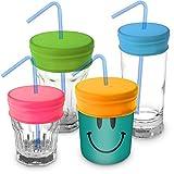 TOMYEER Pajilla Reutilizables de Viaje Paquete de 4 (Rosa, Amarillo, Verde, Azul)